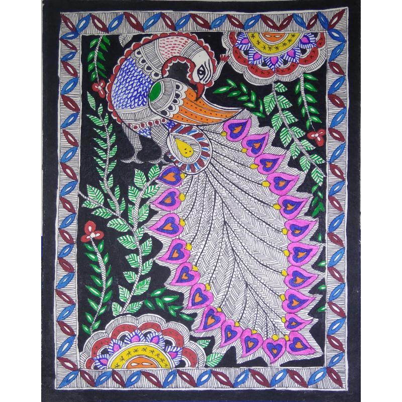 Madhubani Birds Painting