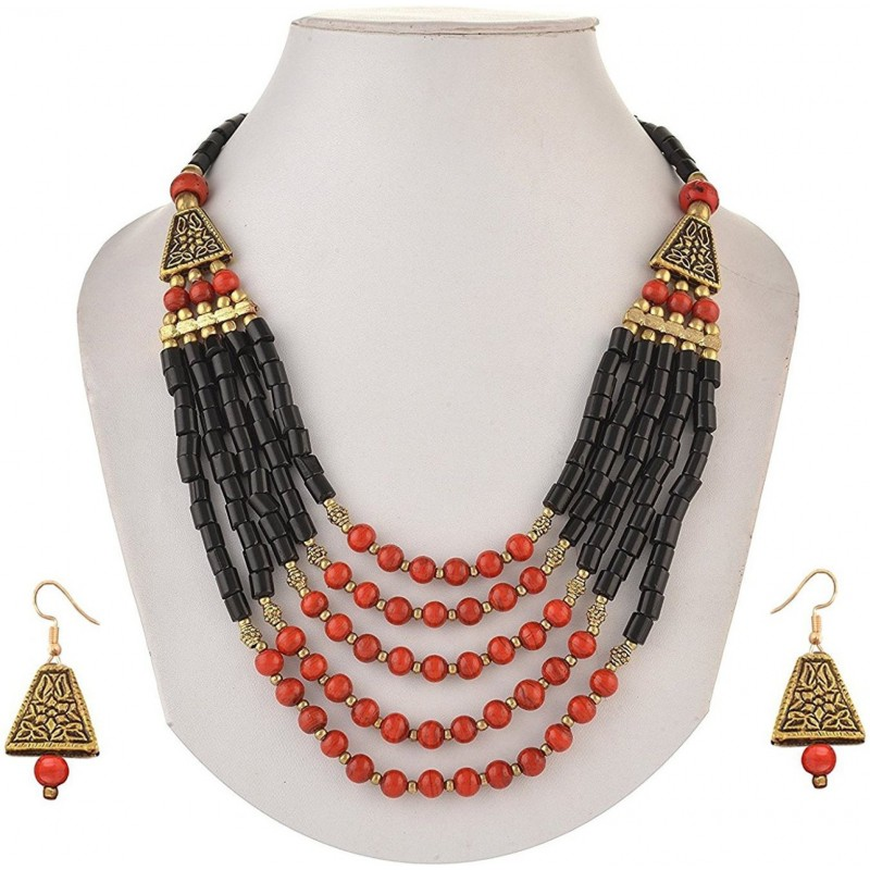 Sitashi Stone Jewel Set  (Multicolor)