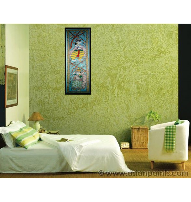 Madhubani Krishna & Radha Painting