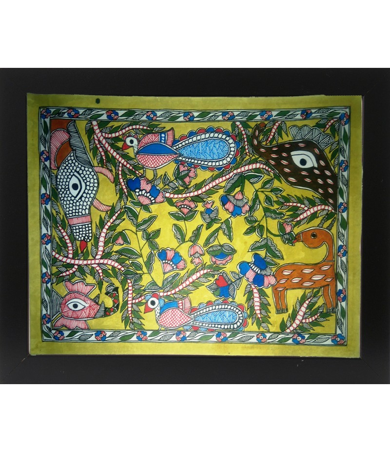 Madhubani Animals Painting