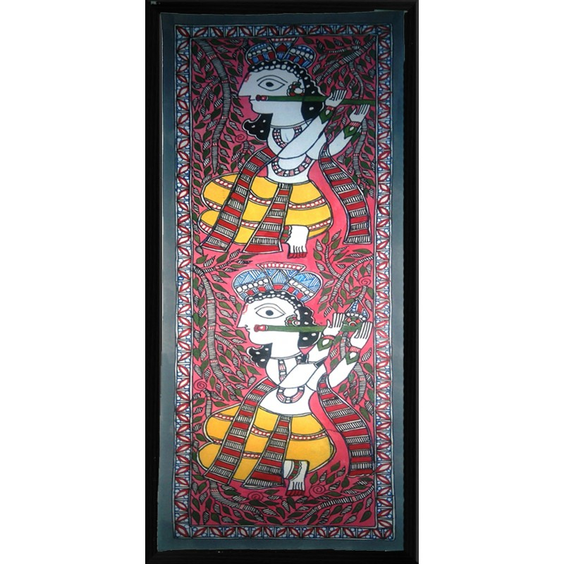 Madhubani Krishna Painting