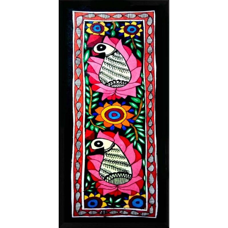 Birds With Flower Painting .